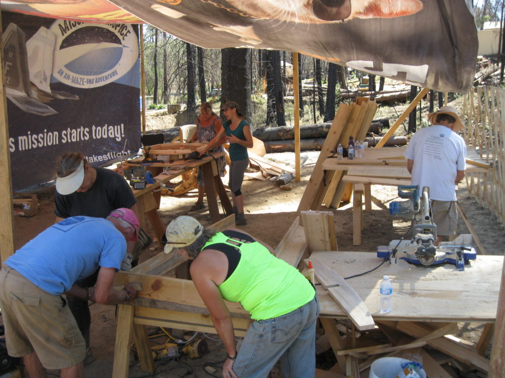 September 2019 Yurt Workshop. Building five yurts in a week.